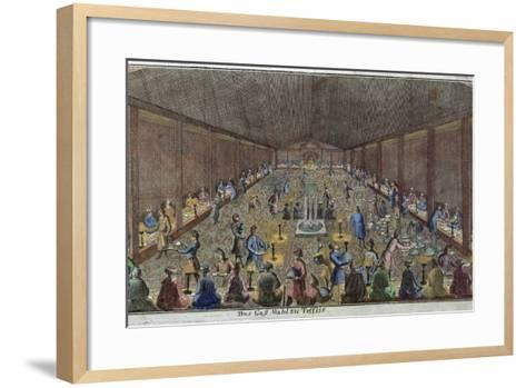 Large Dinner in Tbilisi, Tiflis, Food and Drink, Historical, Liszt Gourmet Archive--Framed Art Print
