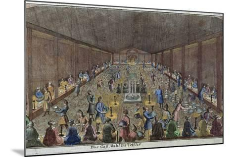 Large Dinner in Tbilisi, Tiflis, Food and Drink, Historical, Liszt Gourmet Archive--Mounted Giclee Print