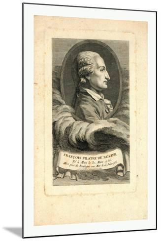 Oval Head-And-Shoulders Profile Portrait of French Balloonist Jean-François Pilâtre De Rozier--Mounted Giclee Print