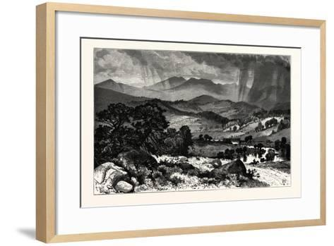 Mount Mansfield, from Rice's Hill. Mount Mansfield Is the Highest Mountain in Vermont, Usa--Framed Art Print
