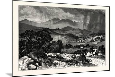 Mount Mansfield, from Rice's Hill. Mount Mansfield Is the Highest Mountain in Vermont, Usa--Mounted Giclee Print