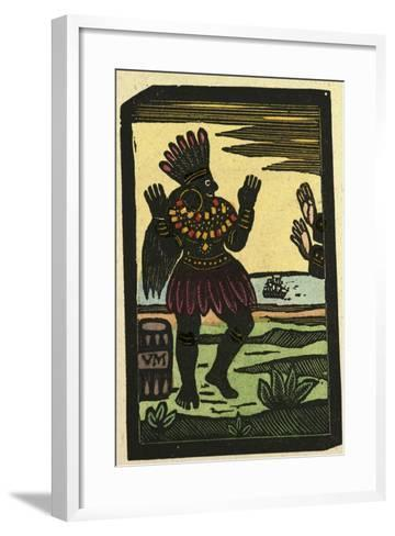 Illustration of English Tales Folk Tales and Ballads. a Person Wearing a Traditional Dress--Framed Art Print