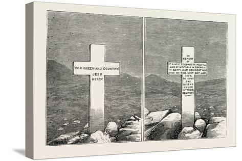 Memorial Stone at the Graves of Lieutenants Melvill and Coghill, the Zulu War, 1879--Stretched Canvas Print