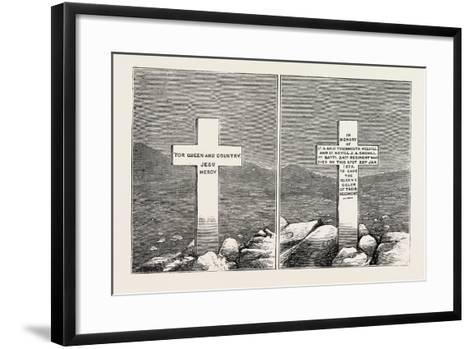 Memorial Stone at the Graves of Lieutenants Melvill and Coghill, the Zulu War, 1879--Framed Art Print