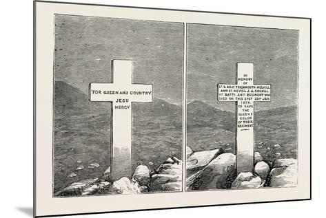 Memorial Stone at the Graves of Lieutenants Melvill and Coghill, the Zulu War, 1879--Mounted Giclee Print