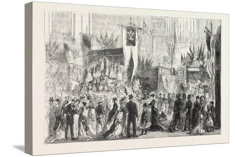 Grand Bazaar at Exeter Ball in Aid of the National Temperance Hospital, 1876, Uk--Stretched Canvas Print