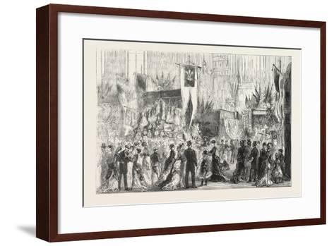 Grand Bazaar at Exeter Ball in Aid of the National Temperance Hospital, 1876, Uk--Framed Art Print
