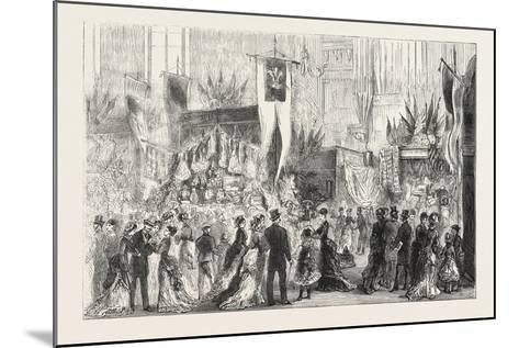 Grand Bazaar at Exeter Ball in Aid of the National Temperance Hospital, 1876, Uk--Mounted Giclee Print