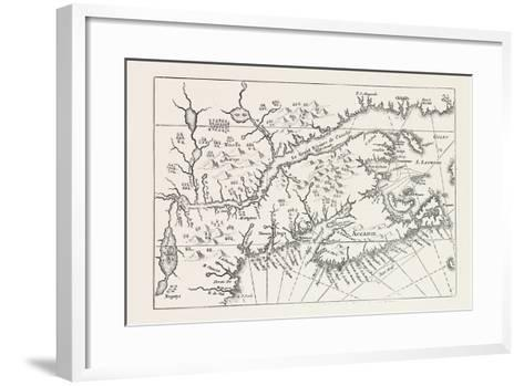 Map of Canada and Nova Scotia, from Joannes De Salt's America Utriusque Descriptio, 1633, 1870S--Framed Art Print