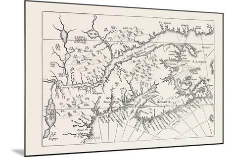 Map of Canada and Nova Scotia, from Joannes De Salt's America Utriusque Descriptio, 1633, 1870S--Mounted Giclee Print