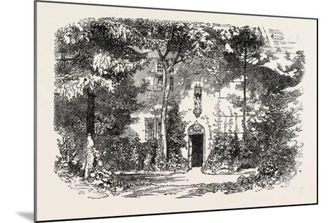 House and Statue of Joan of Arc, Jean D'Arc, at Domremy, Domremy-La-Pucelle, France, 1865--Mounted Giclee Print