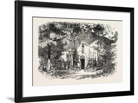 House and Statue of Joan of Arc, Jean D'Arc, at Domremy, Domremy-La-Pucelle, France, 1865--Framed Art Print