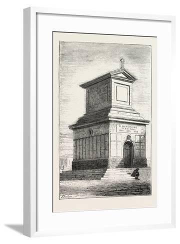 The Duke of Edinburgh's Visit to the Crimea: the French Mausoleum, Sebastopol, Ukraine, 1873--Framed Art Print