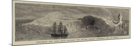 Collision Off Cape Horn Between the British Barque Columbus and an Iceberg--Mounted Giclee Print