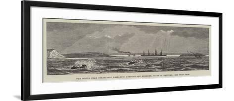 The White Star Steam-Ship Britannic Aground Off Kenmore, Coast of Wexford--Framed Art Print
