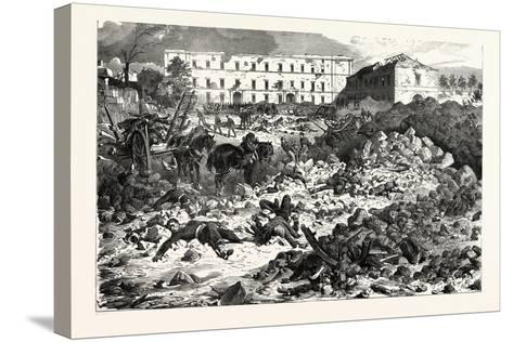 Franco-Prussian War: the Citadel of Laon after the Explosion, September 9 1870--Stretched Canvas Print