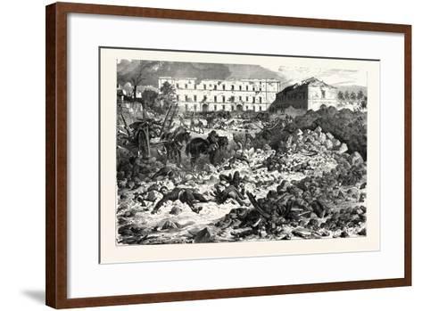 Franco-Prussian War: the Citadel of Laon after the Explosion, September 9 1870--Framed Art Print