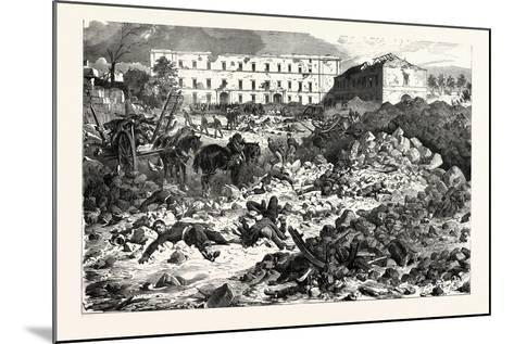 Franco-Prussian War: the Citadel of Laon after the Explosion, September 9 1870--Mounted Giclee Print