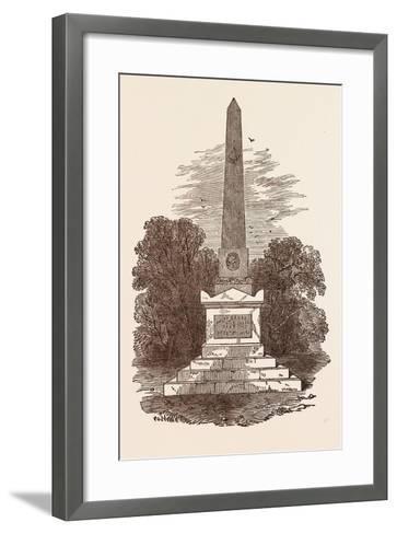Monument to John Howard, the Philanthropist, at Kherson; Died January 20, 1790--Framed Art Print