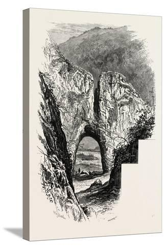 Reynard's Cave, Dove Dale, the Dales of Derbyshire, Country, UK, 19th Century--Stretched Canvas Print