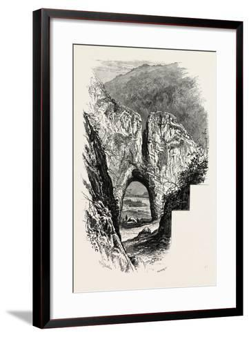 Reynard's Cave, Dove Dale, the Dales of Derbyshire, Country, UK, 19th Century--Framed Art Print