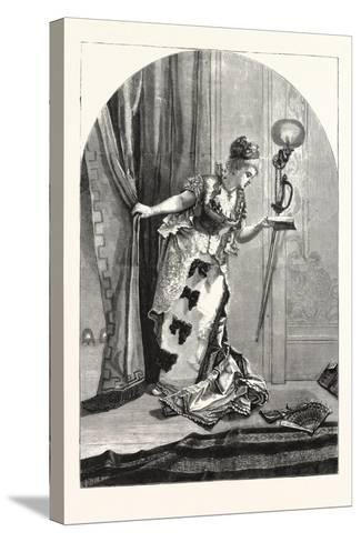 Private, Theatricals: Just before the Curtain Rises. Theatre, 1876, Uk--Stretched Canvas Print