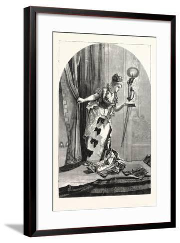 Private, Theatricals: Just before the Curtain Rises. Theatre, 1876, Uk--Framed Art Print