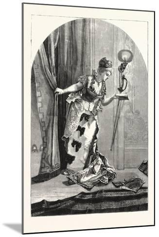 Private, Theatricals: Just before the Curtain Rises. Theatre, 1876, Uk--Mounted Giclee Print