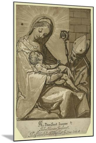 The Virgin, Child, and a Bishop, Andreani, Andrea, Approximately 1560-1623--Mounted Giclee Print