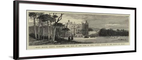 Duff House, Banff, Scotland, the Seat of the Earl of Fife, Lately Visited by the Prince of Wales--Framed Art Print