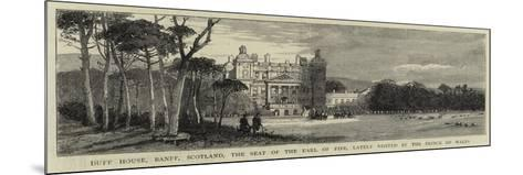 Duff House, Banff, Scotland, the Seat of the Earl of Fife, Lately Visited by the Prince of Wales--Mounted Giclee Print