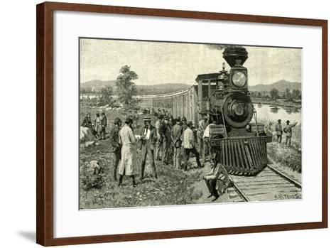 From Portland to the Yellowstone Park. a Breakdown on the Line 1891 Usa--Framed Art Print