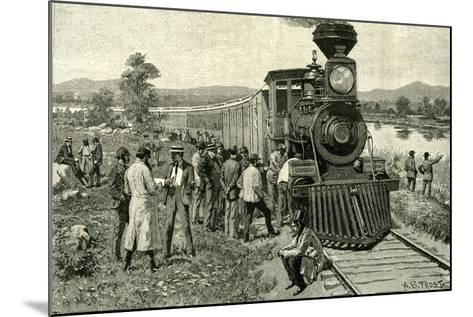 From Portland to the Yellowstone Park. a Breakdown on the Line 1891 Usa--Mounted Giclee Print