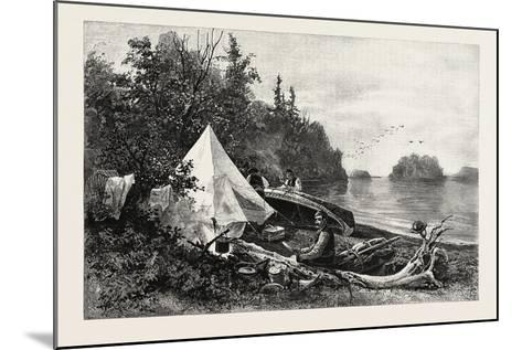 The Upper Lakes, Camp on Victoria Island, Canada, Nineteenth Century--Mounted Giclee Print