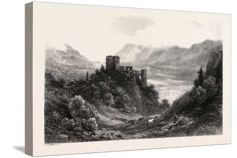 Ruins of the Brunnenburg, Near Meran, Merano, South Tyrol, Italy, 19th Century--Stretched Canvas Print