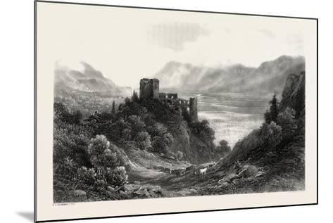 Ruins of the Brunnenburg, Near Meran, Merano, South Tyrol, Italy, 19th Century--Mounted Giclee Print