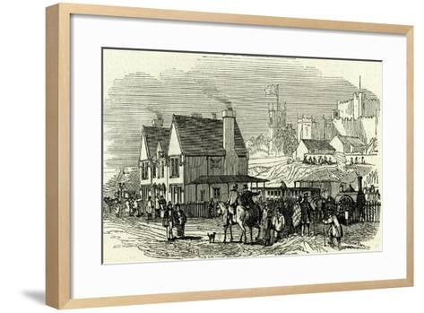 Lancaster Station U.K. 1846 Opening of the Lancaster and Carlisle Railway--Framed Art Print
