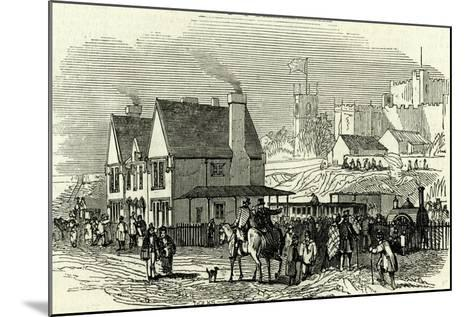 Lancaster Station U.K. 1846 Opening of the Lancaster and Carlisle Railway--Mounted Giclee Print