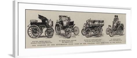 The Opening of the Automobile Club, Some of the Vehicles That Took Park in the Display--Framed Art Print