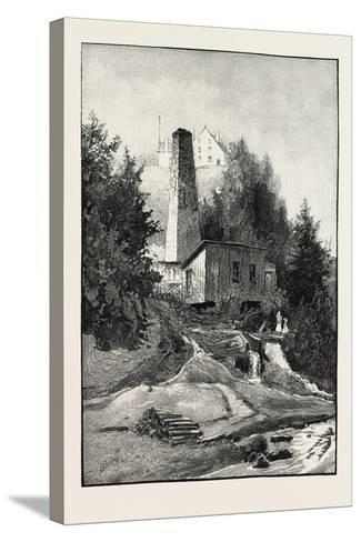 French Canadian Life, Old Chimney and Chateau, Canada, Nineteenth Century--Stretched Canvas Print