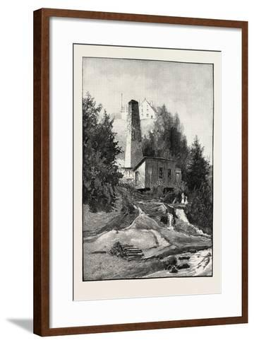 French Canadian Life, Old Chimney and Chateau, Canada, Nineteenth Century--Framed Art Print