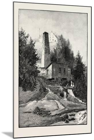 French Canadian Life, Old Chimney and Chateau, Canada, Nineteenth Century--Mounted Giclee Print