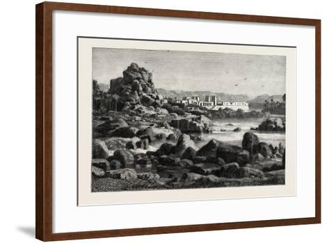 The First Cataract of the Nile and the Island of Phile Egypt, 1882--Framed Art Print