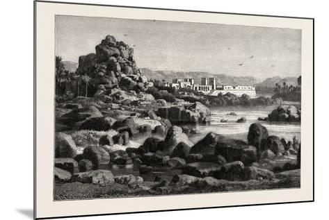 The First Cataract of the Nile and the Island of Phile Egypt, 1882--Mounted Giclee Print