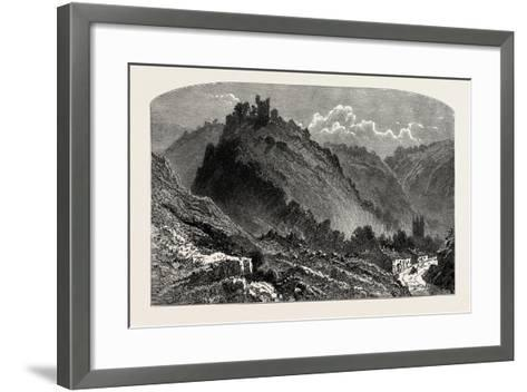 Peveril Castle, the Dales of Derbyshire, Country, UK, 19th Century--Framed Art Print
