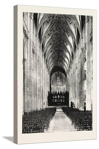 Eight Hundredth Anniversary of Winchester Cathedral: the Nave, UK, 1893--Stretched Canvas Print