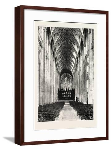 Eight Hundredth Anniversary of Winchester Cathedral: the Nave, UK, 1893--Framed Art Print