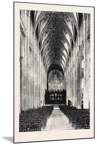Eight Hundredth Anniversary of Winchester Cathedral: the Nave, UK, 1893--Mounted Giclee Print