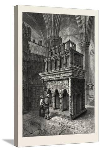 Edward the Confessor's Shrine, Westminster Abbey, London, UK, 19th Century--Stretched Canvas Print
