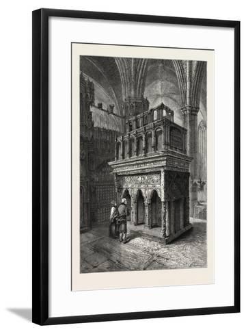 Edward the Confessor's Shrine, Westminster Abbey, London, UK, 19th Century--Framed Art Print